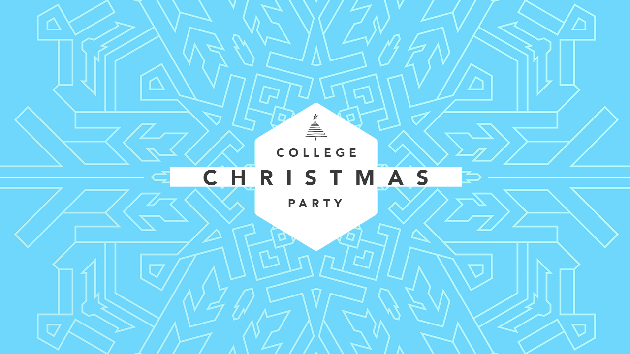 College Christmas Party Psd