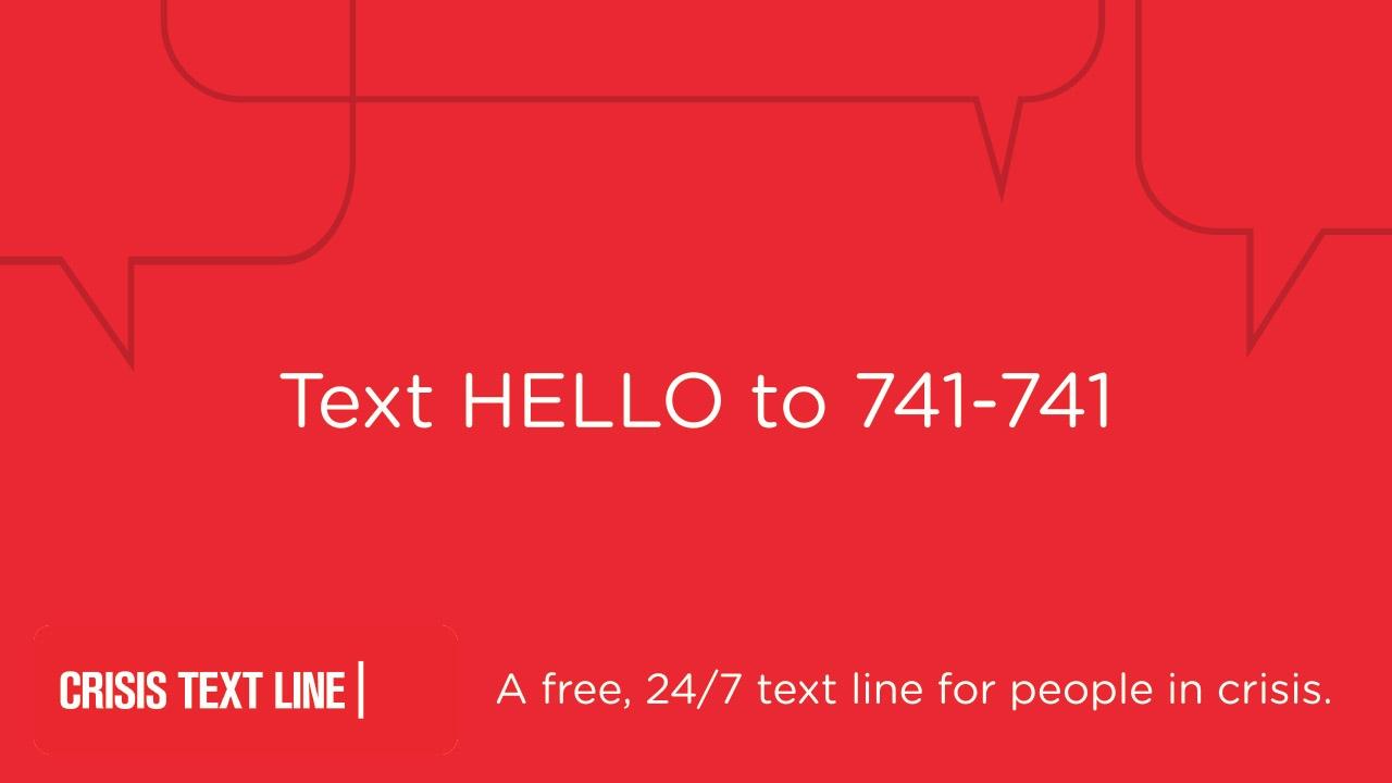 Crisis Text Line Slide